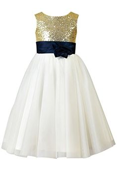 2678c168fdb 58 Best Gold Flower Girl Dresses images