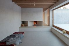 Atrium house on Gotland. Situated on a 10th century shoreline, a low house set in a vast landscape, overlooking the Baltic sea.