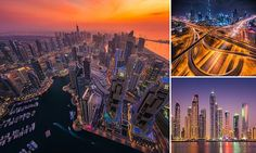 Albert Dros' night time photos of Dubai make the city look like a metropolis from a sci-fi movie