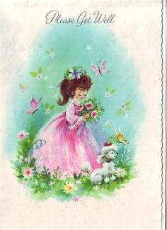 vintage 50s get well greeting card UNUSED by vvpaperemporium. $4.50, via Etsy.