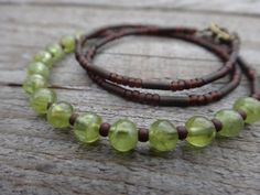 Peridot earthly necklace. Everyday necklace. by PositiveMindSo