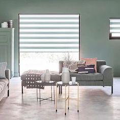 Wow😍 Duorolgordijnen in kleur Ramen, Dining Bench, Blog, Curtains, Inspiration, Furniture, Home Decor, Garage, Instagram