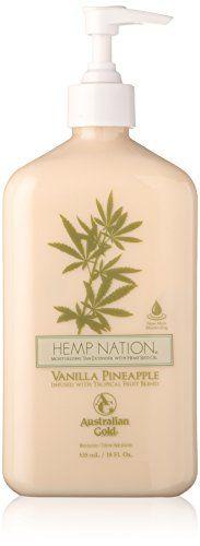 Australian Gold Hemp Nation Moisturizing Tan Extender, Vanilla Pineapple, 18 Fluid Ounce -- Find out @ Hemp Seeds, Hemp Oil, Organic Skin Care, Makeup Cosmetics, Shea Butter, Lotion, Moisturizer, Fragrance, Pure Products