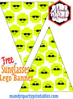 Free Lego Birthday Banner for your DIY Lego Birthday Party! | Mandy\'s Party Printables #legoparty #boysbirthday