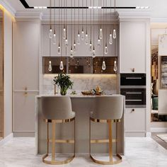 beautiful and affordable dining room decoration ideas 36 Luxury Kitchen Design, Kitchen Room Design, Dining Room Design, Home Decor Kitchen, Interior Design Kitchen, Home Kitchens, Kitchen Tools, Kitchen Ideas, Kitchen Cabinets Decor