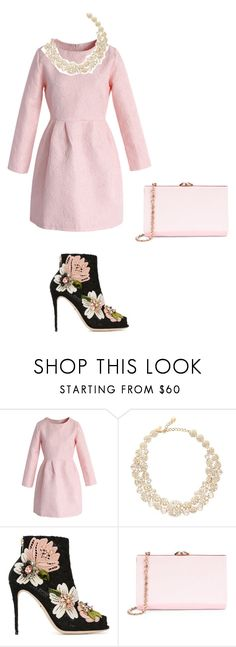 """rose dream highness"" by rb-originals ❤ liked on Polyvore featuring Chicwish, Kate Spade, Dolce&Gabbana and Ted Baker"