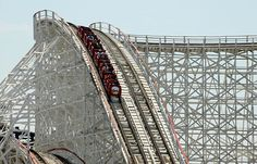Colossus, old fashion wooden rollercoaster. This is the first rollercoaster that I thought was scary back in the 80's.