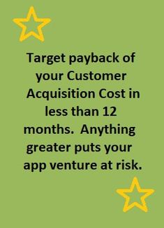 Payback Periods for Customer Acquisition Cost are an Important Metric for Startups