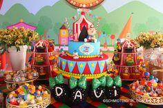 Aniversario de 1 ano. Tema Circo do Davi. @bbprojetos #bbprojetos