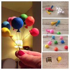 How make mini balloon decoration. Would look amazing on a cake!