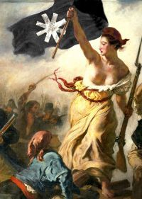 Liberty Guiding the People, a painting by Delacroix inspired by the July Revolution Romantic history painting. Commemorates the French Revolution of July, 1830 . French Revolution, Bonnet Phrygien, Liberty Leading The People, Eugène Delacroix, Classical Liberalism, Louvre Paris, Ville France, French History, Art History