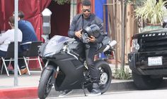 Celebs on motorcycles