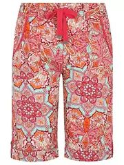 Printed Poplin Bow Knee Length Shorts