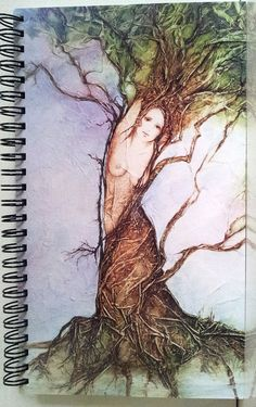 Journal Diary MYTHICAL GODDESS DAPHNE Lynne by lynnefrenchdesigns, $14.00
