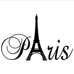 Paris Tower girls room wall decal home decor vinyl lettering wall saying sticker