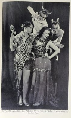 The Olympian Ball Rex Whistler David Herbert Walter Crisham & Lady Caroline Paget.