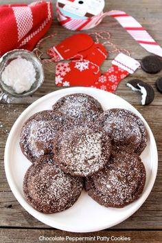 Chocolate Peppermint Patty Cookies www.twopeasandtheirpod.com #recipe #cookies #Christmas
