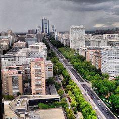 MADRID - pº castellana, grisáceo pero vivo