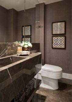 Mármore armani em banheiros - veja modelos lindos com as cores que são tendência! - DecorSalteado