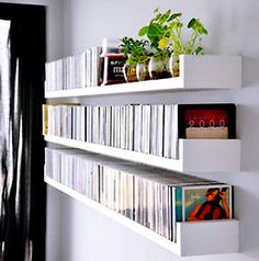 Create the Perfect Bar in Your Own Home Today - Man Cave Home Bar Diy Wall Shelves, Floating Shelves, Cd Shelving, Cd Shelf, Cd Dvd Storage, Vinyl Storage, Vinyl Record Shelf, Living Room Tv Unit Designs, Man Cave Home Bar