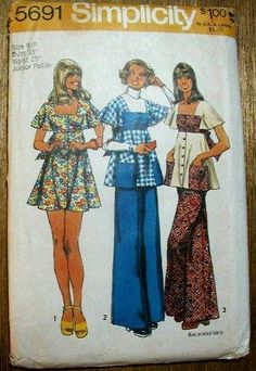 Smock Top Mini Dress - One of my favorite smock tops of the 70's.