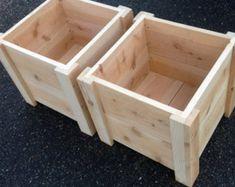 All weather 48-QT Rustic Cedar Chest Cooler Stand with Brass | Etsy Cedar Planter Box, Garden Planter Boxes, Wooden Planters, Box Garden, Square Planter Boxes, Pallet Planter Box, Railing Planters, Planter Box Plans, Cedar Garden