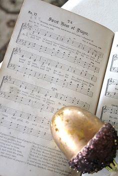 vintage hymn book