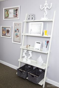 Grey + White Glam Affordable Office by Beth Beattie