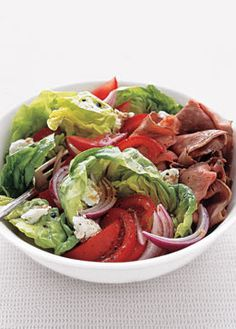 Roast Beef Salad with Balsamic Vinaigrette Dressing! | real simple