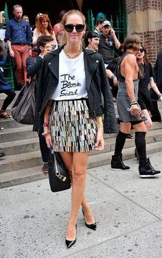 El street style de Nueva York #skirt