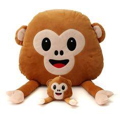 Monkey Emoji  Emoticon Throw Plush Stuffed Toy Doll Decor Gift