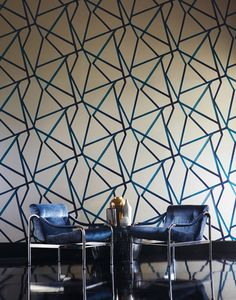 Papier peint graphique motif triangles noir blanc et for Moucharabieh leroy merlin