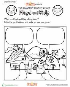 Worksheets: Brainzy Presents: Floyd and Roly's Amazing Adventures