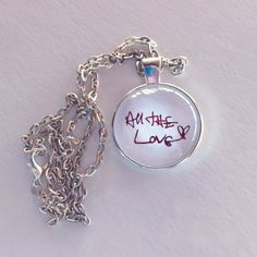 All The Love RED FOIL Necklace Harry Styles by bymissrose on Etsy