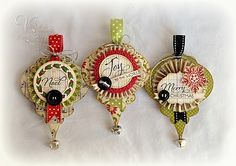 Pickled Paper Designs: cardmaking and papercrafting by Amy Sheffer Christmas Paper Crafts, Christmas Gift Tags, Christmas Projects, Handmade Christmas, Holiday Crafts, Vintage Christmas, Merry Christmas, Paper Ornaments, Holiday Ornaments