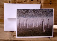 Women in the Wind Surreal Landscape Blank Card by annarobertsart