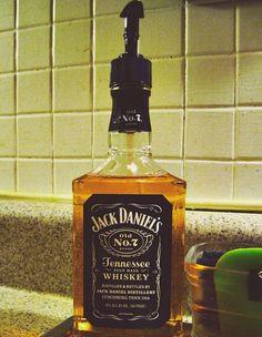Bath Essentials For Men: Recycled Jack Daniel's Bottle Soap Dispenser
