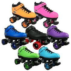 Children's Roller Skates - Riedell Dart Quad Roller Derby Speed Skates size 8 -- Details can be found by clicking on the image.