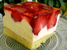 Polish Desserts, Cookie Desserts, Baking Recipes, Cake Recipes, Dessert Recipes, Jello Cake, Baking Utensils, Eggnog Recipe, Sweets Cake