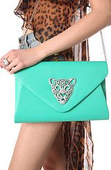 *Accessories Boutique The Queen Tiger Envelope Clutch in Mint #MissKL #MissKLCoachella
