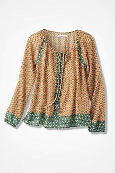 Afternoon Picnic Top, Yellow
