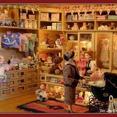 Baby winkel in het poppenhuis 1:12 kasten zelf gemaakt - Google+