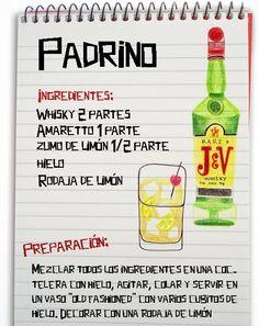 Padrino: Cóctel con Whisky y Amaretto