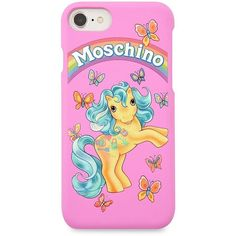 Moschino My Little Pony Capsule iPhone 7 Case ($75) ❤ liked on Polyvore featuring accessories, tech accessories and moschino