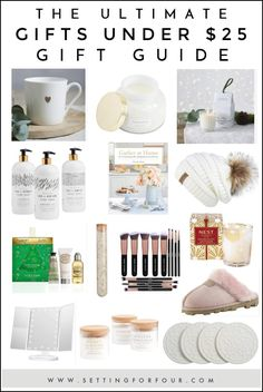 Check out this Ultimate Gifts Under $25 Gift Guide! The BEST affordable presents that people on your gift list actually want! #gifts #gift #guide #ideas #25 #affordable #cheap #fashion #beauty #decor #books #mug #christmas All Things Christmas, Christmas Holidays, Holiday Gifts, Christmas Gifts, The Ultimate Gift, Inexpensive Gift, Diy Home Decor Projects, Make A Gift, Gift List