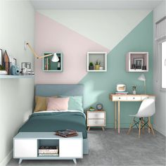 5 Tipps zur Warenangebot welcher richtigen Ton zum Besten von ein Kinderzimmer 5 tips on the range of products which right tone for the best of a children's room déco Bedroom Wall Designs, Room Ideas Bedroom, Small Room Bedroom, Bedroom Colors, Bedroom Decor, Child's Room, Tiny Bedroom Design, Preteen Bedroom, Teen Room Designs