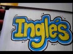 Resultado de imagen para portadas para cuadernos de ingles School Notebooks, Art Sketches, Hand Lettering, Coloring Pages, Doodles, Bullet Journal, Organization, Teaching, Logos