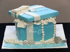 Tiffany Jewelry box cake #tiffany co #Jewelry