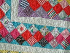 Antique Hand Sewn Quilt | eBay