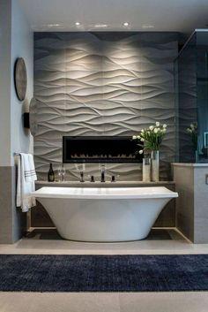 Elegant Master Bathroom Remodel Ideas - Bathroom Decor and Remodel - Bathroom Fireplace, Contemporary Bathroom Designs, Contemporary Interior, Contemporary Stairs, Contemporary Building, Contemporary Apartment, Contemporary Chandelier, Contemporary Office, Rustic Contemporary